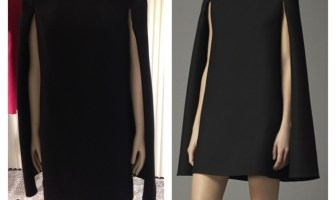 Valentino Black Assymetric Dress