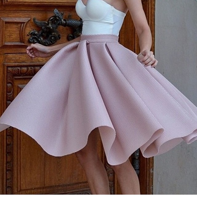 Skirts with high waist