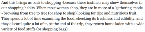 Why women like to shop and men dont