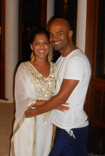Mo and I on our last night in the maldives