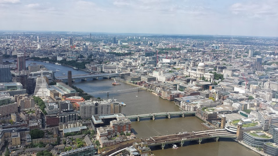 view of London and the Thames