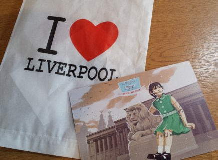 Wrote this postcard after a day in the sun watching the Giants in Liverpool