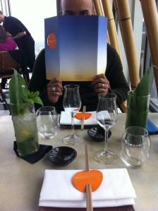 sushi samba table setting
