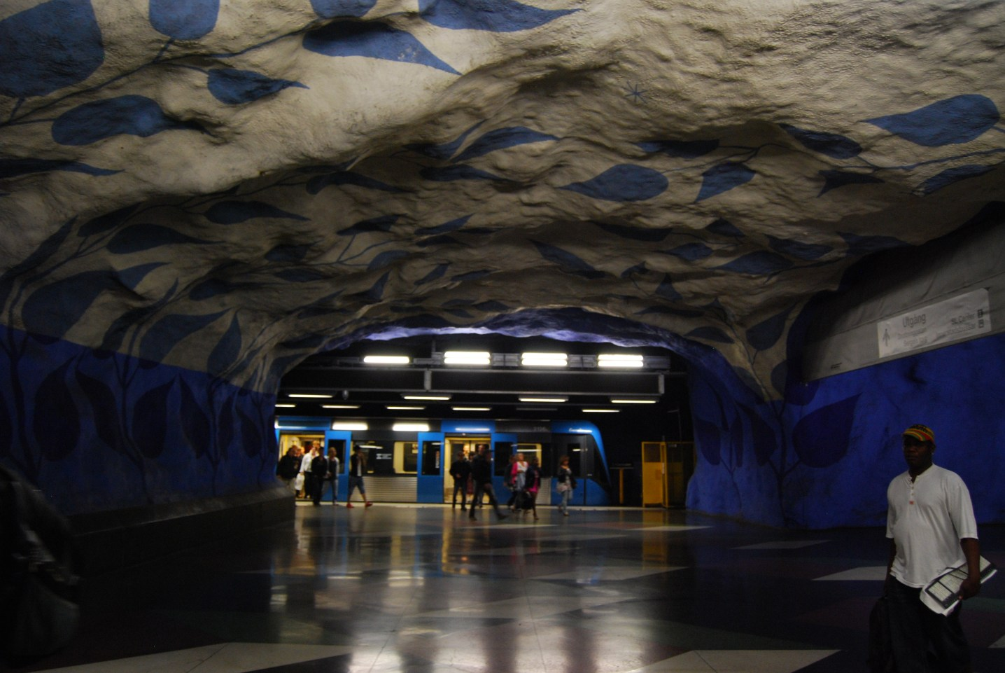 metro station stockholm sweden