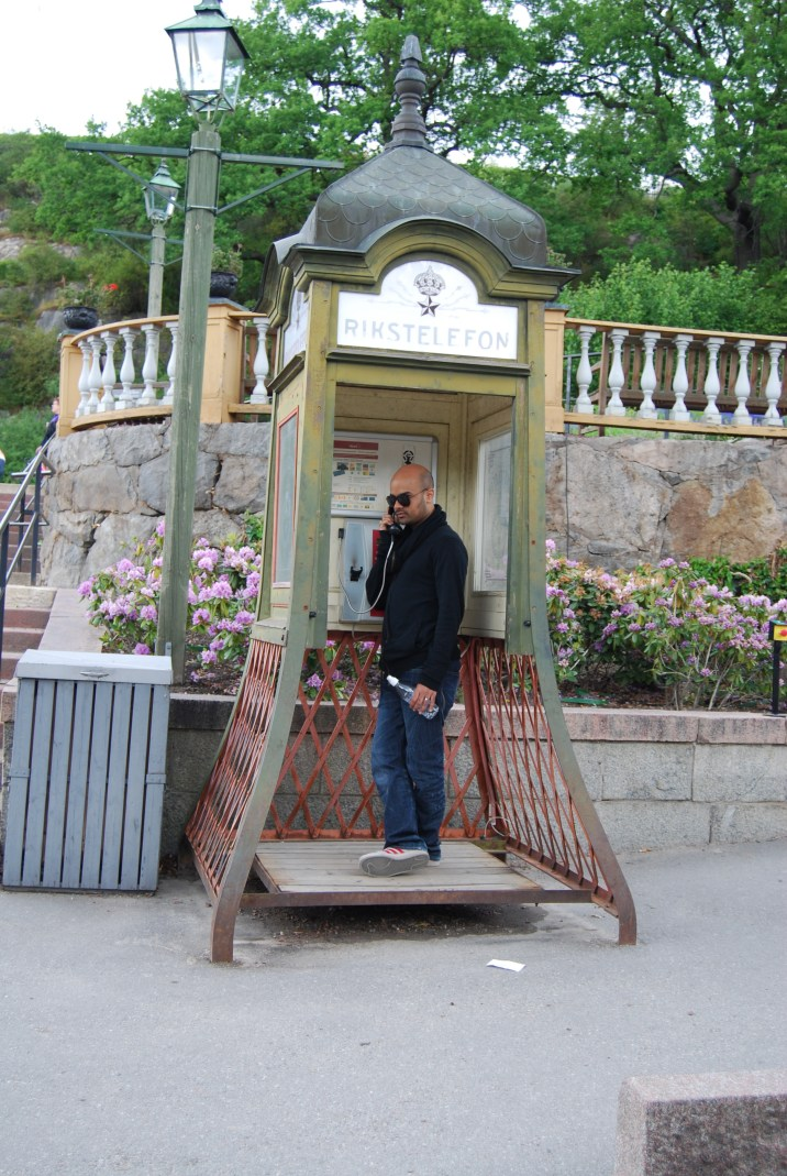 old phone box at skansen