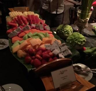 Fruit platters, Apsara cruise, Bangkok, Thailand