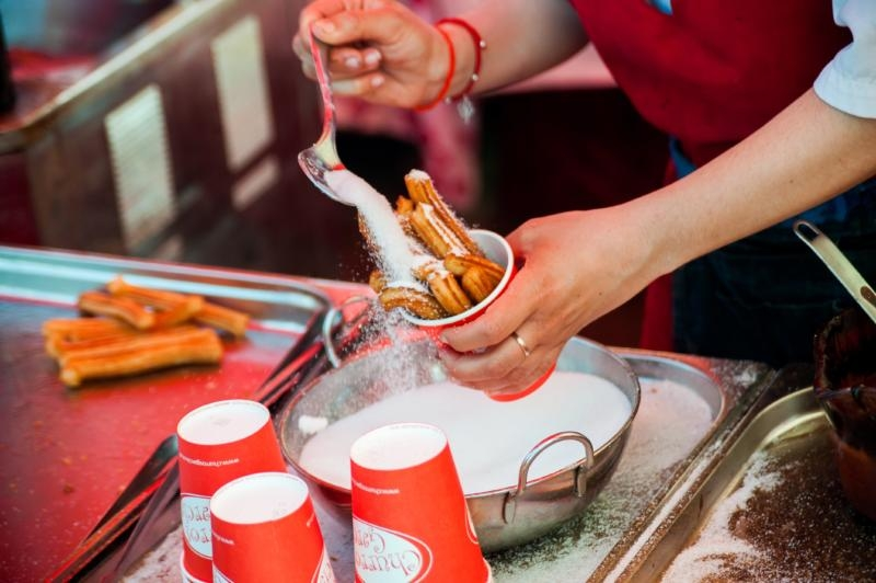 Churros and other street food at Tatton Park Foodies Festival Manchester