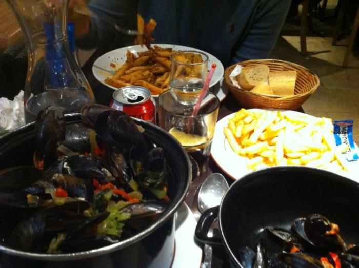 Moules frites in France