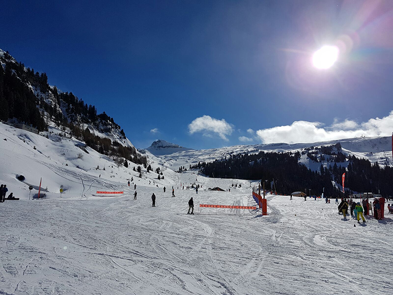 On the slopes at Flaine Resort Crystal Ski Holidays Ski Trip
