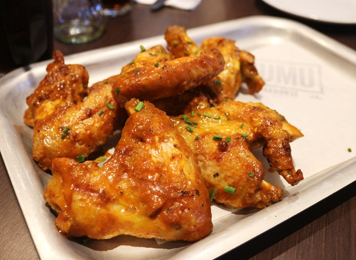 Mumu Steakhouse Preston chicken wings with buffalo sauce