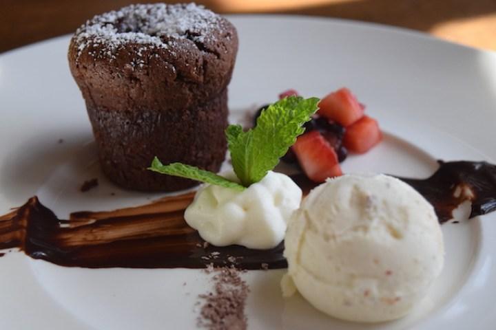 Tamarind of London | Chocolate Molten Cake with Caramelized Ice Cream