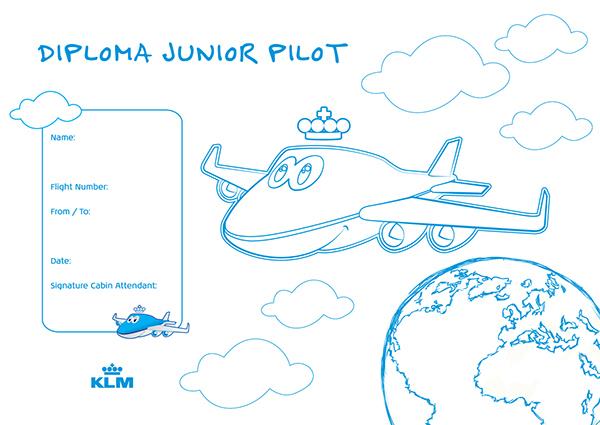 Bluey KLM Junior Pilot Diploma
