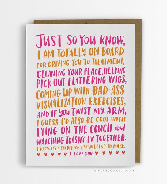 FRIENDSHIP THROUGH CANCER EMPATHY CARD