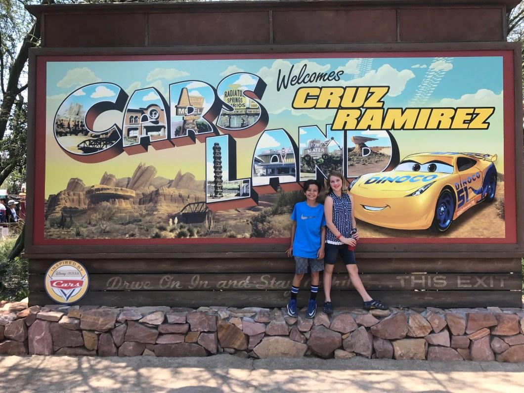 Cars Land Cruz Ramirez Sign