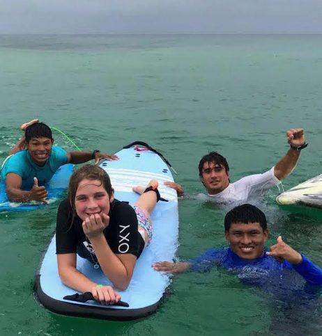 Surfing in Bocas del Toro, Panama