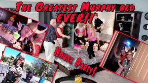 Fold down Murphy bed With Cabinet Fun House party by Wilding Wallbeds
