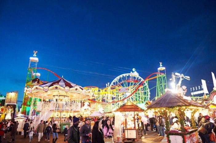 london england hyde park christmas winter holiday