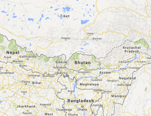bhutan map 1