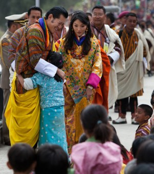 12. The royal wedding ceremony was held in Punakha followed by formal visits to different parts of the country.