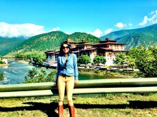 Punakha Dzong from the highway