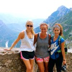 Kate, Bronte, and me hiking Montserrat