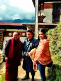 With our driver Shacha and lama guide Sonam