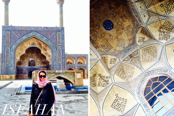 Iran, Isfahan pink scarf