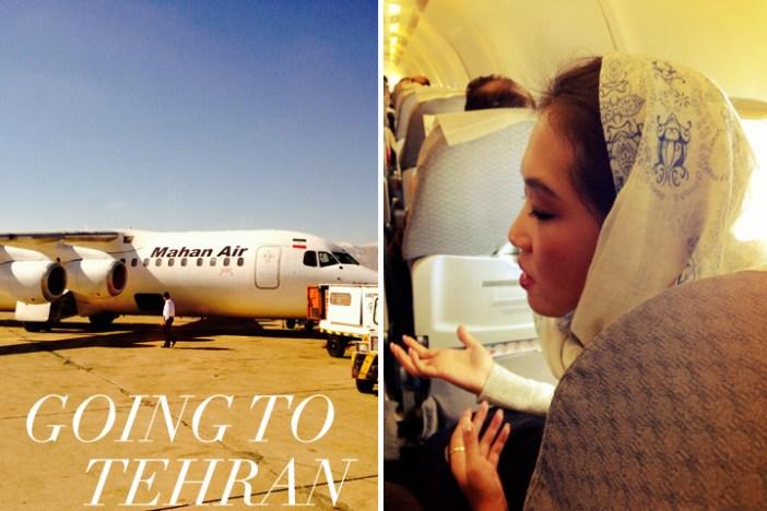 Iran, Tehran white scarf
