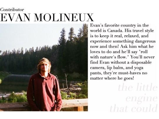 Evan Molineux contributor profile