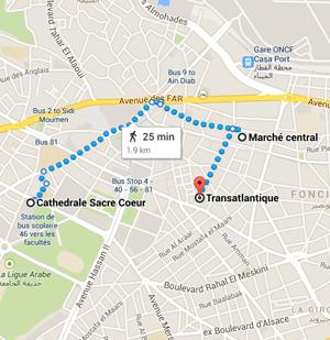 map morocco casablanca marche centrale