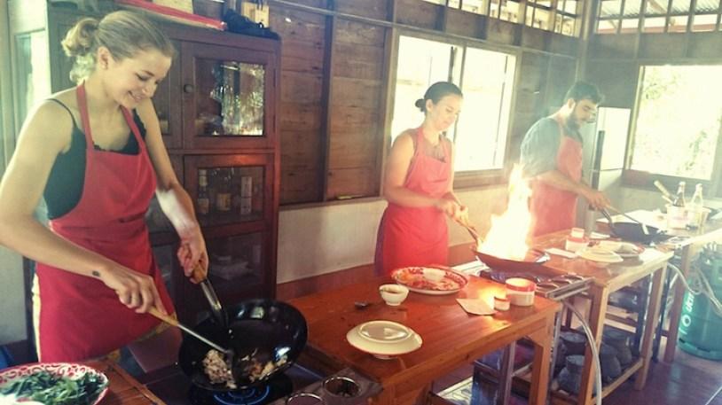 Thai Cooking School Chiang Mai classroom