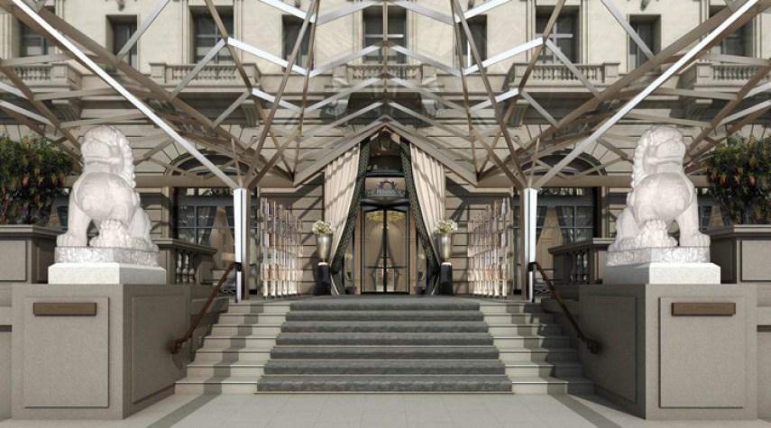 Hotel entrance - The Peninsula Paris