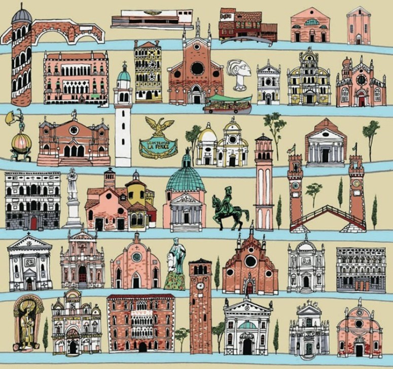 illustrationmundo.com venice wrapping paper