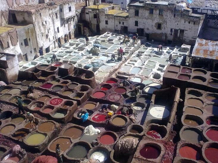 Flickr Nick Saltmarsh tannery Fez Morocco
