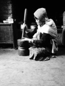 Bhutanese mother at work
