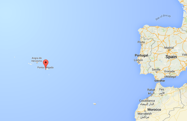 map Azores Portugal