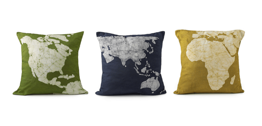 Uncommon Goods Continent Pillows