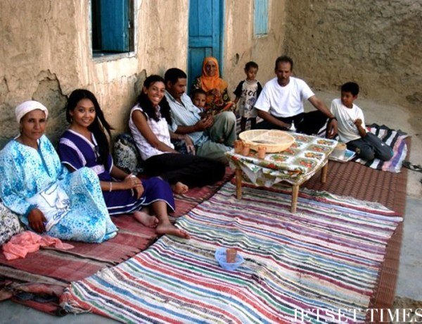 Visiting my friend's family in a country village (Ras el Aain, Morocco)