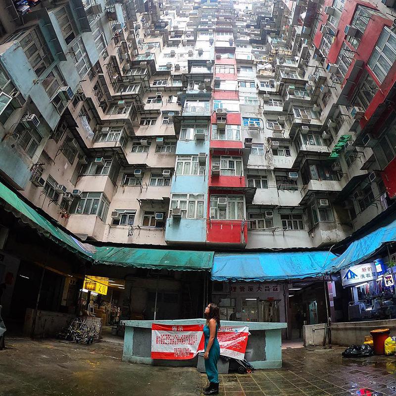 Exploring Hong Kong.