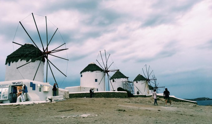 Windmills in Greece.