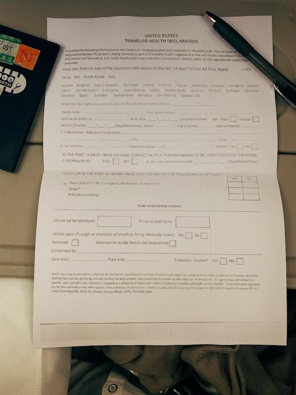 Morocco health declaration form