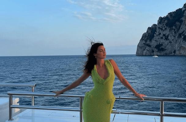 vacation destinations celebrities Kendall Jenner On The Amalfi Coast