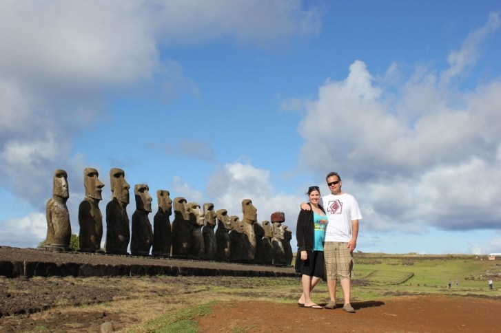 Sarah and Kris Easter Island JetSetting Fools