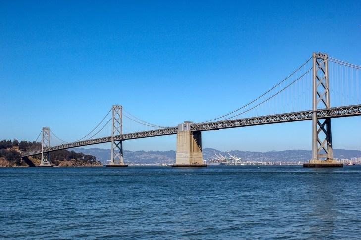 VIew of the bay bridge, San Francisco, California