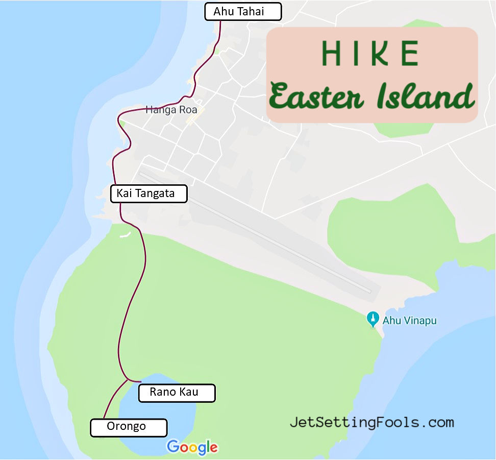Easter Island Hike Map by JetSettingFools.com