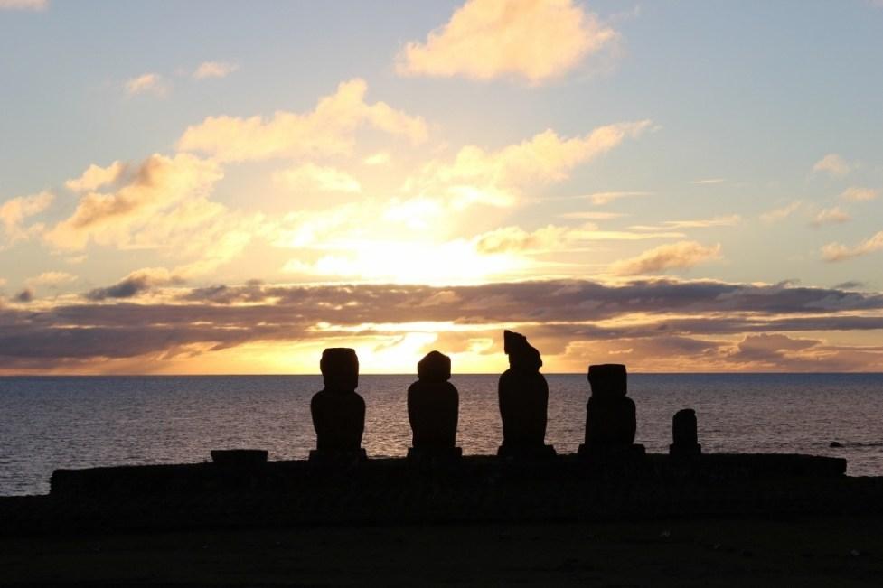 Moai Sunset, Easter Island
