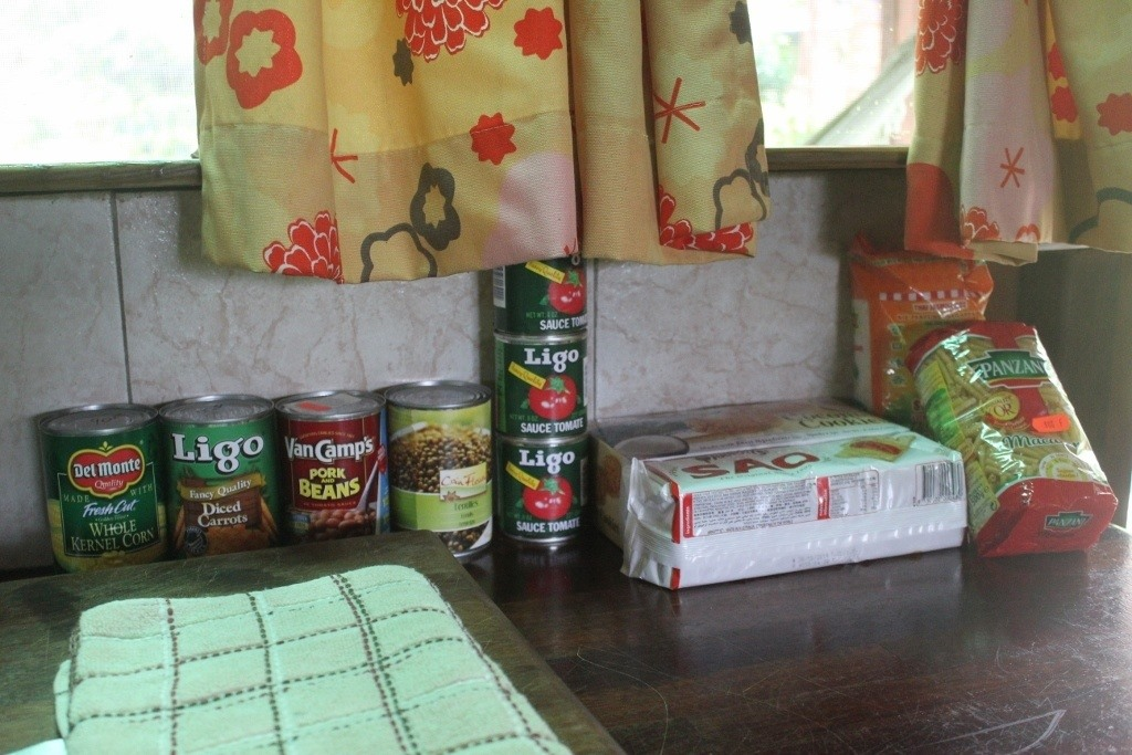 Surviving on inexpensive, canned goods