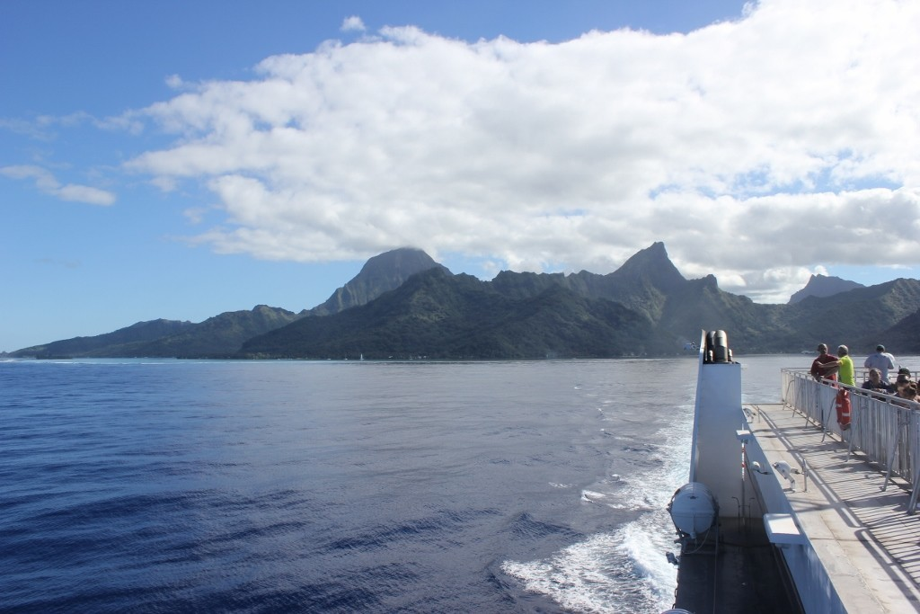 Our ferry from Moorea to Tahiti