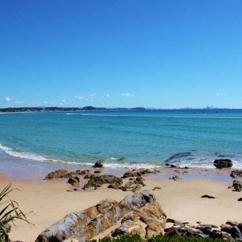 Coolangatta Beach in Coolangatta, Gold Coast, Australia