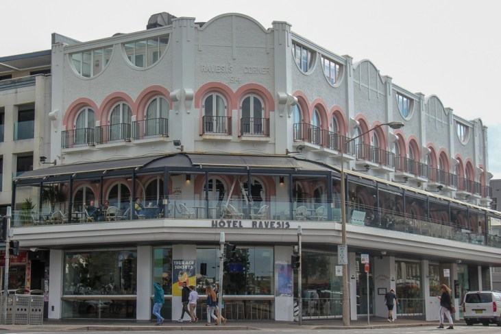 The Ravesis Hotel and Bar on Bondi Beach, Sydney, Australia
